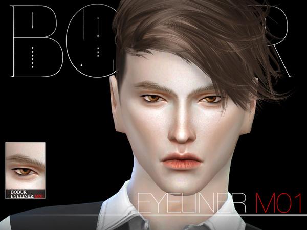 Sims 4 Eyeliner M01 by Bobur3 at TSR