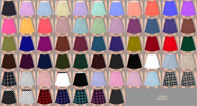 Heart Belt Mini Skirt At Marigold 187 Sims 4 Updates