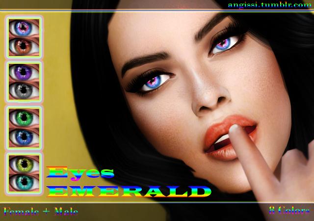 Sims 4 Emerald eyes at Angissi