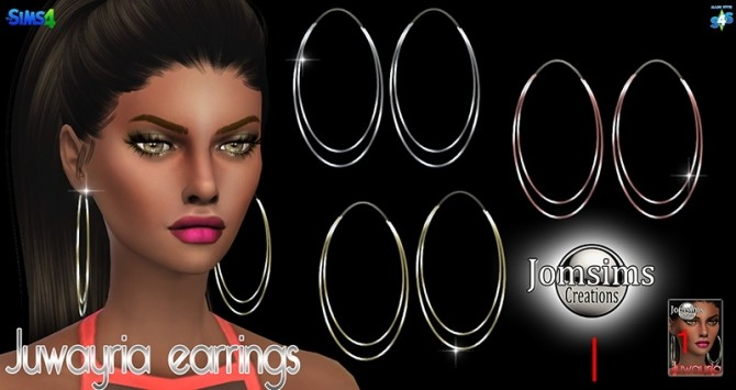 Juwayria earrings at Jomsims Creations image 1793 670x355 Sims 4 Updates