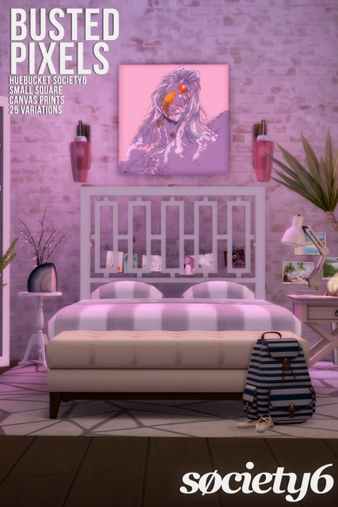 Sims 4 G'day 3 Canvas Sets at Busted Pixels