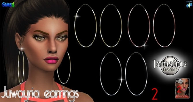 Juwayria earrings at Jomsims Creations image 1804 670x355 Sims 4 Updates
