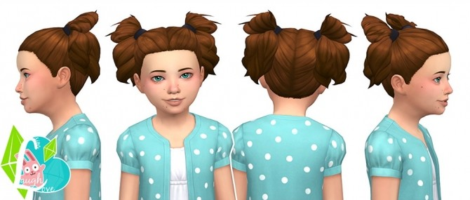 Sims 4 Sassy Curls Summer Pigtails Collection (Part 03) at SimLaughLove