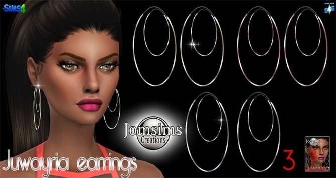 Juwayria earrings at Jomsims Creations image 1818 670x355 Sims 4 Updates