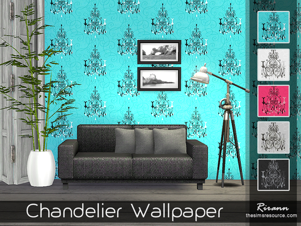 Chandelier Wallpaper by Rirann at TSR image 1820 Sims 4 Updates