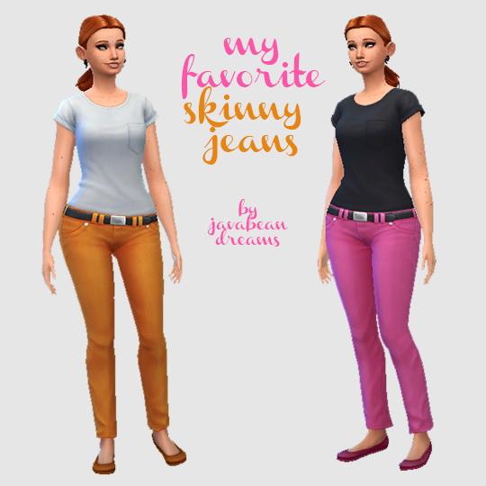 Sims 4 Skinny Jeans at Hamburger Cakes