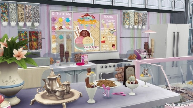 Ice Cream Cafe by Julia Engel at Frau Engel image 1884 670x377 Sims 4 Updates