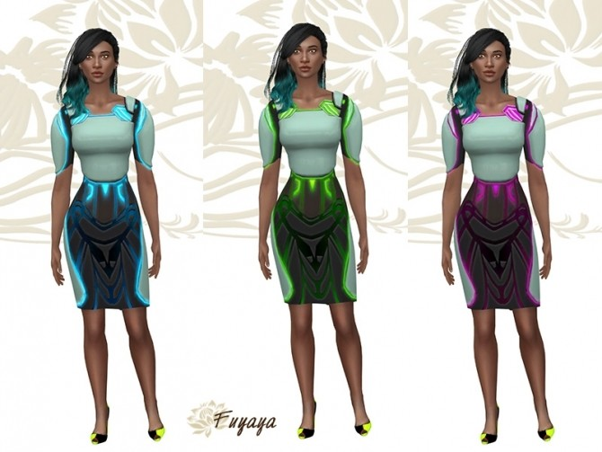 Alien Dress By Fuyaya At Sims Artists 187 Sims 4 Updates