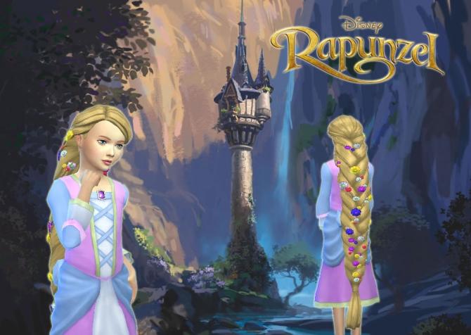 Rapunzel Braid For Girls At My Stuff 187 Sims 4 Updates