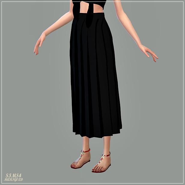 Long Pleats Skirt At Marigold 187 Sims 4 Updates