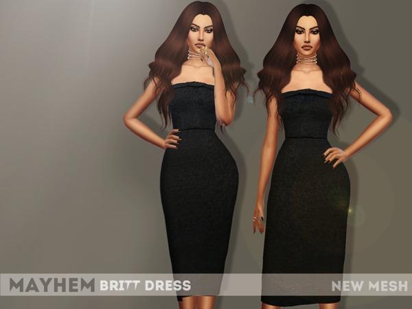Sims 4 Britt Dress by NataliMayhem at TSR