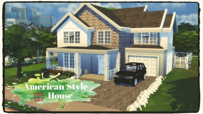 American Style House at Dinha Gamer image 2042 670x377 Sims 4 Updates