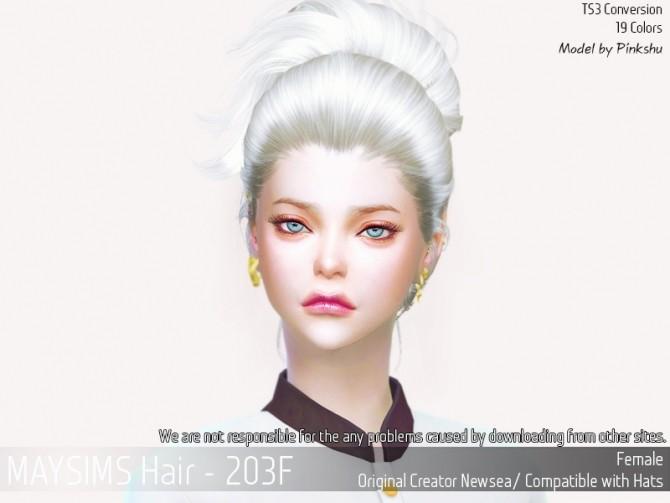 Hair 203F (Newsea) at May Sims image 2048 670x503 Sims 4 Updates