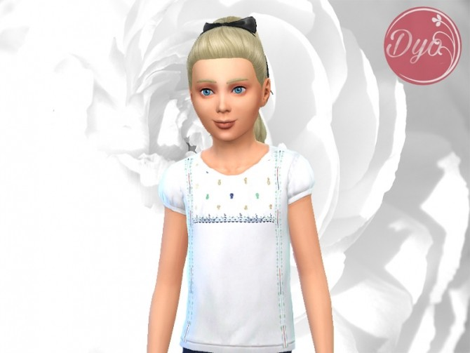 Embroidered blouse CF at Les Sims4 image 2079 670x503 Sims 4 Updates