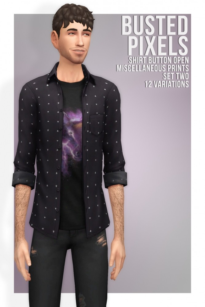 Shirt Button Miscellaneous Prints Set Two at Busted Pixels image 21410 667x1000 Sims 4 Updates