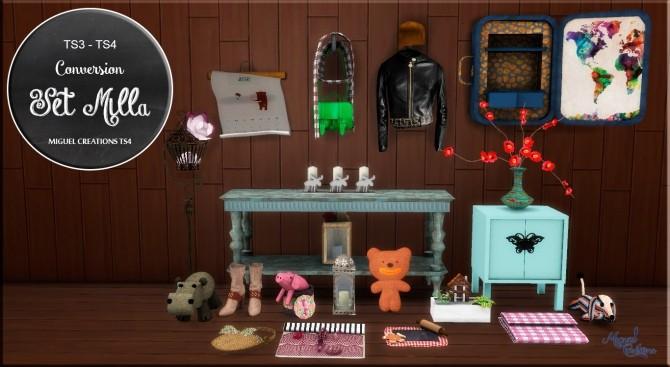 Sims 4 Set Milla at Victor Miguel
