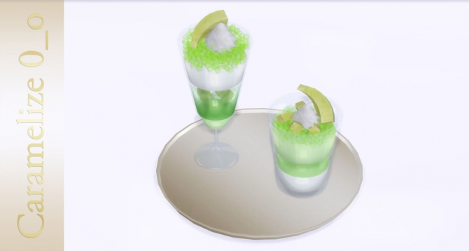 Melon Mousse and Jelly at Caramelize » Sims 4 Updates