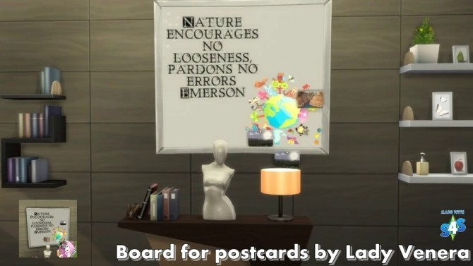 Board for postcards at Lady Venera image 2185 670x377 Sims 4 Updates