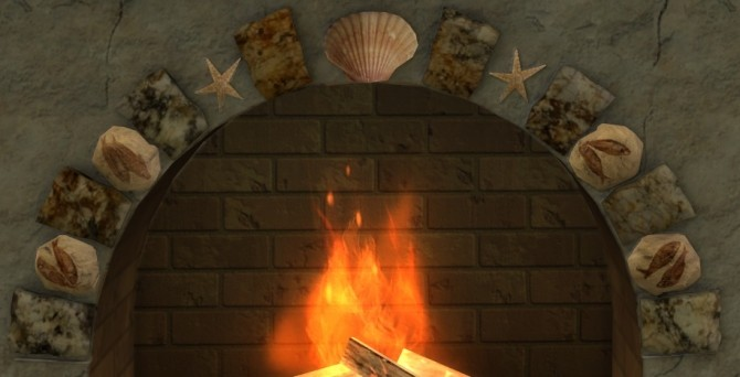 Summer Collectors fireplace, shells & candles, fossil fish at Sims 4 Studio image 222 670x342 Sims 4 Updates