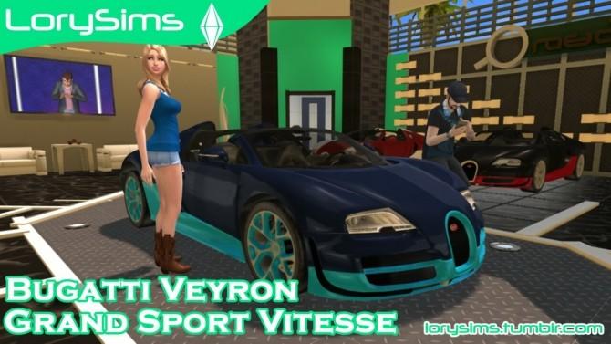 Bugatti Veyron Grand Sport Vitesse at LorySims image 2244 670x377 Sims 4 Updates