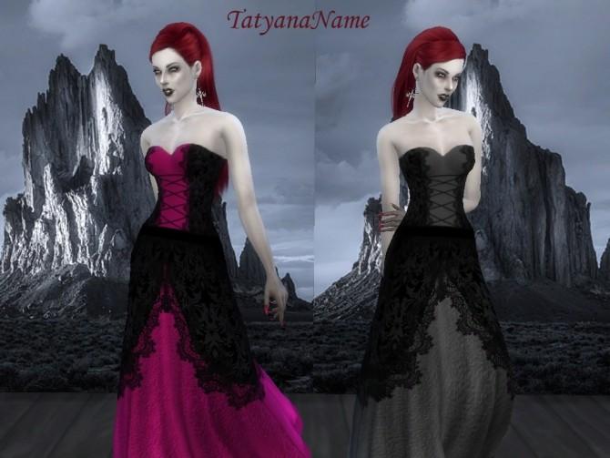 vampire lace dress var at tatyana name sims updates