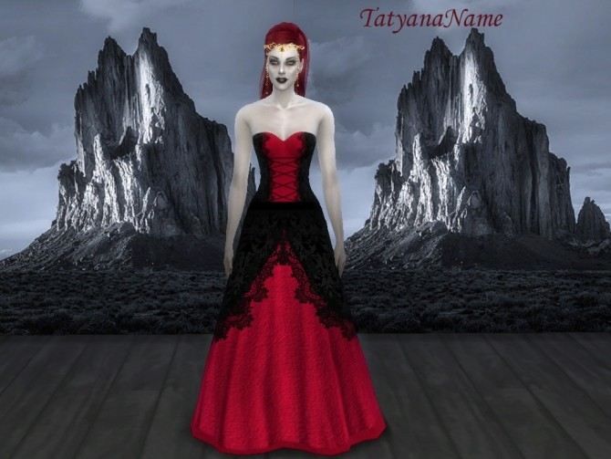 Vampire Lace Dress Var 2 At Tatyana Name 187 Sims 4 Updates