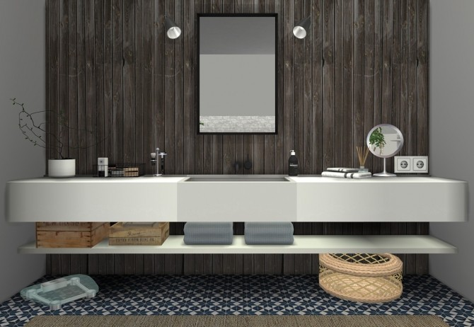 Ms91 orama bathroom at sanoy sims sims 4 updates for Bathroom ideas sims 4