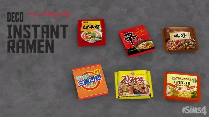Deco Instant Ramen at Oh My Sims 4 image 23115 670x377 Sims 4 Updates