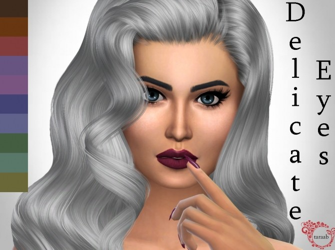 Sims 4 Delicate Eyes Non Default by taraab at Mod The Sims