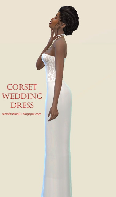 Corset Wedding Dress at Sims Fashion01 image 2327 Sims 4 Updates