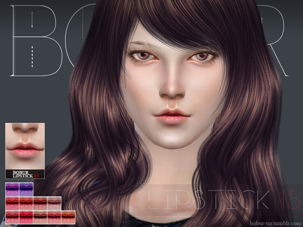Sims 4 Lipstick 15 by Bobur3 at TSR