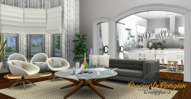 Graciously Georgian Build Set at Simsational Designs image 2382 670x349 Sims 4 Updates
