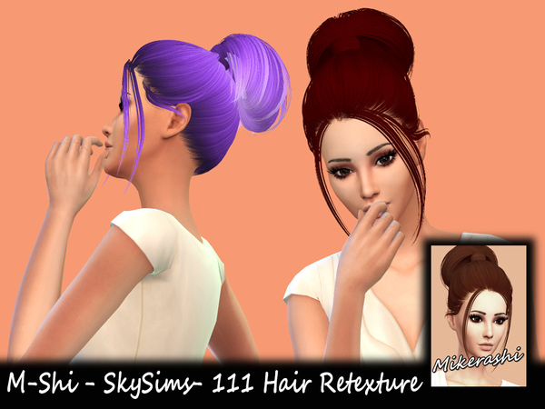 Sims 4 M Shi SkySims 111 Hair Retexture at TSR