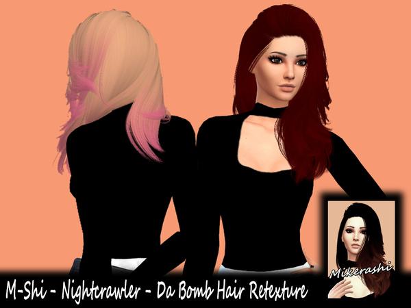 Sims 4 M Shi Nightcrawler Da Bomb Hair Retexture at TSR