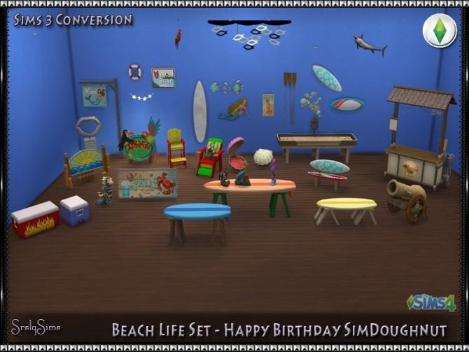 Sims 4 Beach Life Set conversions at SrslySims