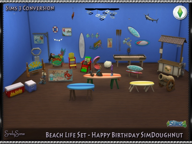 Beach Life Set conversions at SrslySims » Sims 4 Updates