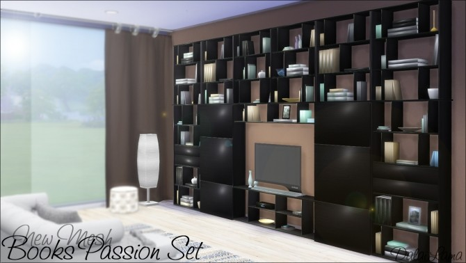 Books Passion Set by DalaiLama at The Sims Lover image 241 670x378 Sims 4 Updates