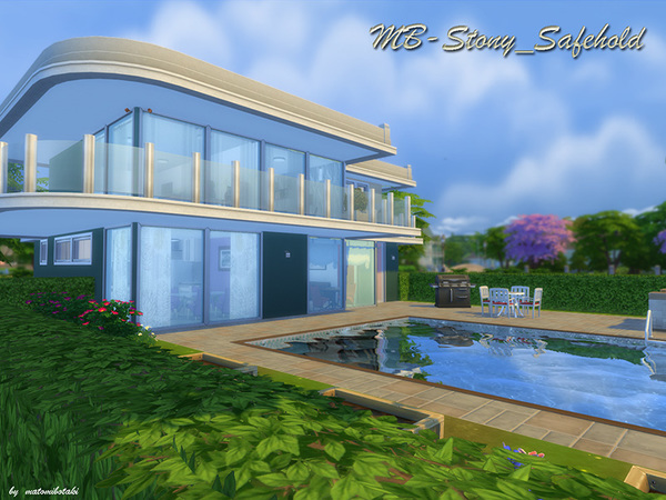 MB Stony Safehold house by matomibotaki at TSR image 2427 Sims 4 Updates