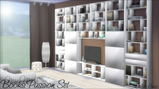 Books Passion Set by DalaiLama at The Sims Lover image 243 670x378 Sims 4 Updates
