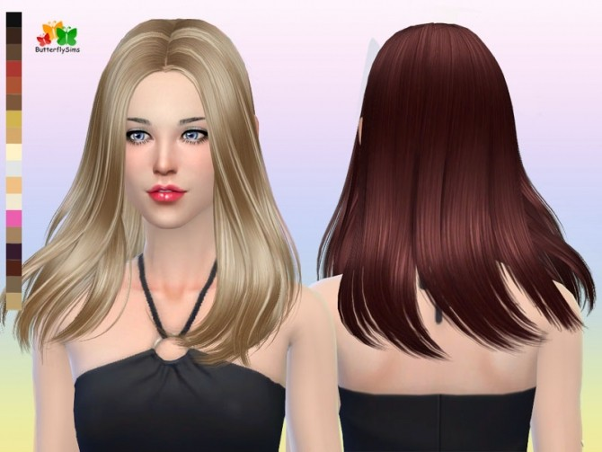 Sims 4 B fly hair af p165 NO hat (Free) at Butterfly Sims