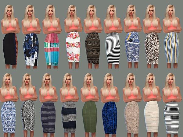 Sims 4 Pencil Skirt Set 02 by NataliMayhem at TSR