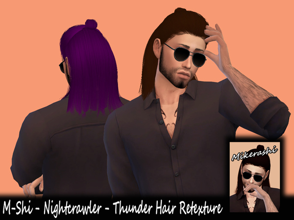 Sims 4 M Shi Nightcrawler Thunder Hair Retexture by Mikerashi at TSR