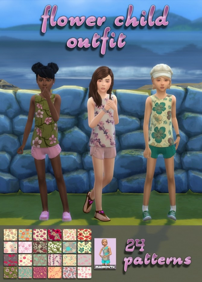Flower Child Outfit at Maimouth Sims4 image 2503 670x936 Sims 4 Updates