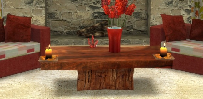 Wood Slab Coffee Table at Sims 4 Studio image 25112 670x326 Sims 4 Updates