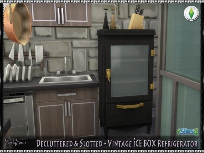 Sims 4 Vintage ICEBOX Refrigerator at SrslySims