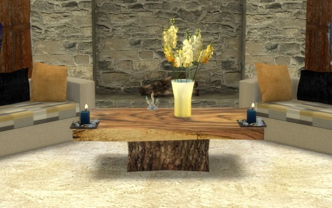 Sims 4 Wood Slab Coffee Table at Sims 4 Studio