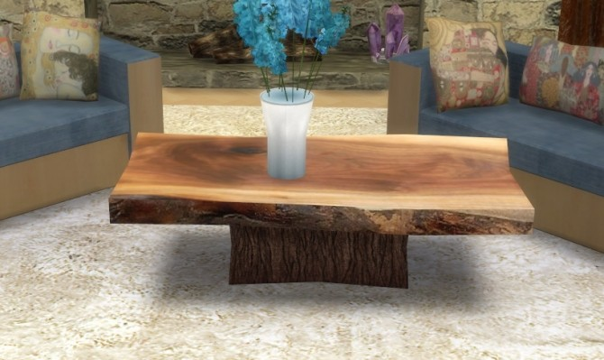 Wood Slab Coffee Table At Sims 4 Studio 187 Sims 4 Updates