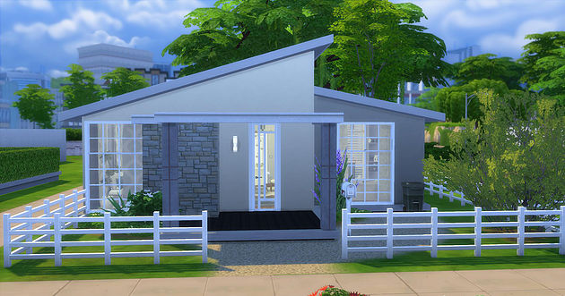 Small house at caeley sims sims 4 updates for Small house design sims 4