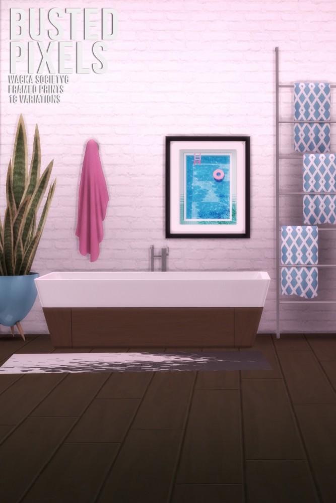 Sims 4 Wacka Society6 Framed Prints at Busted Pixels