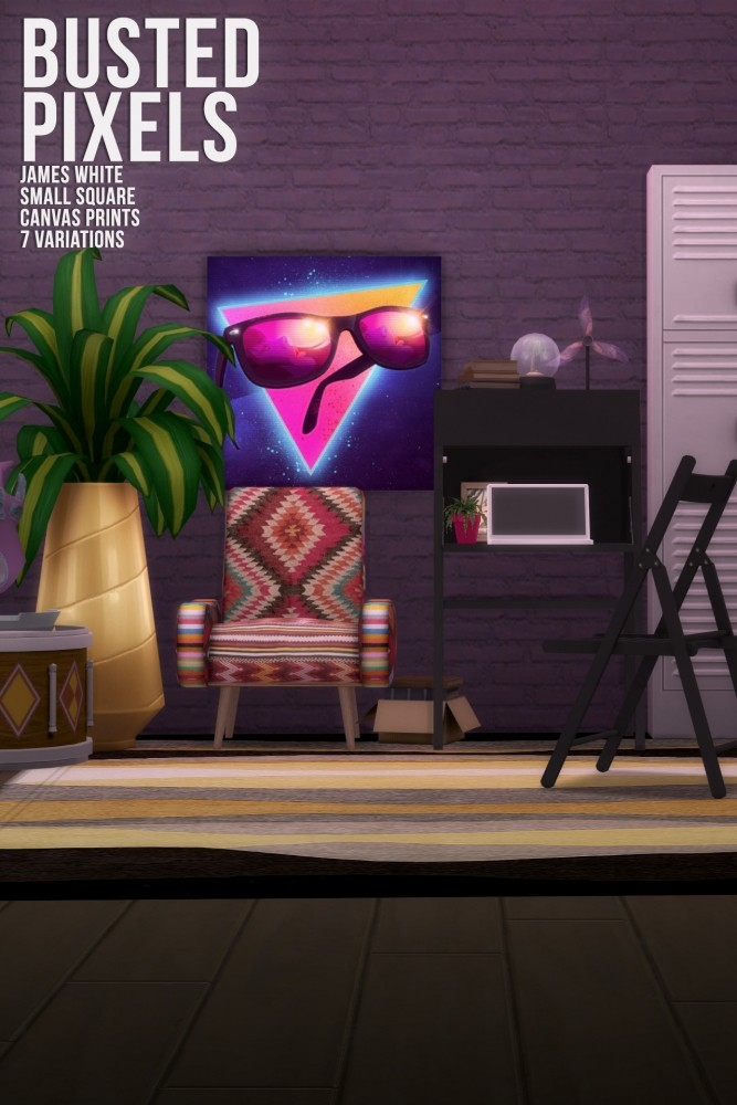 Sims 4 James White Small Square Canvas Prints at Busted Pixels